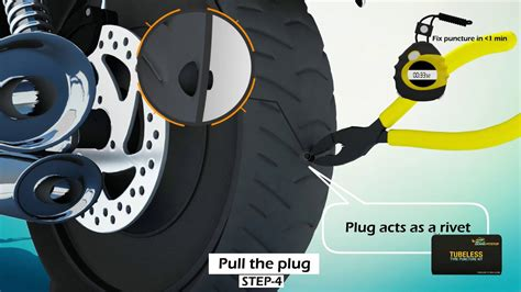 Tubeless Tyre Puncture And Inflation Solution By