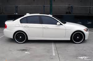 Black BMW with Chrome Rims