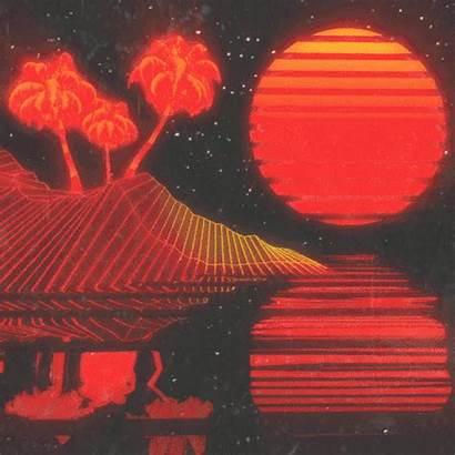 Aesthetic Sun Vaporwave Neon Rainbow Void Dualvoidanima