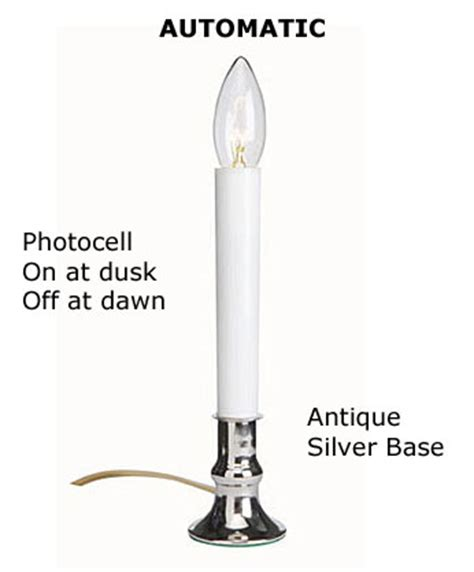 electric 9 inch window candlestick with auto sensor antq