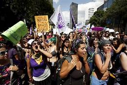 Women's march in Mexico City ends up in smashed windows, vandalized historical monuments and physical assault to bystanders, mostly men…