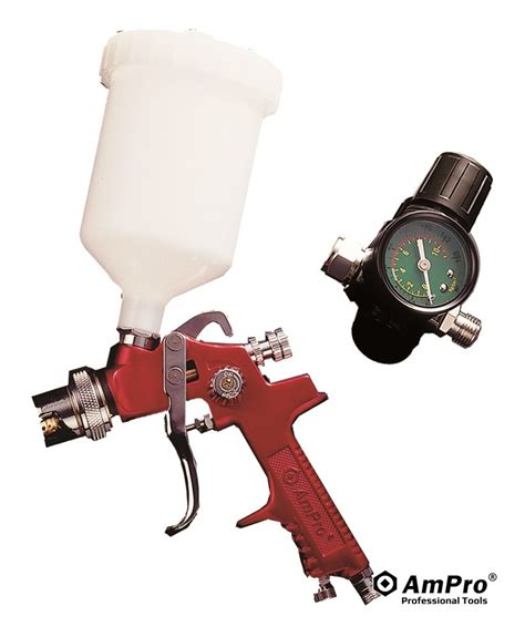 hvlp gravity feed air spray gun w regulator a6025