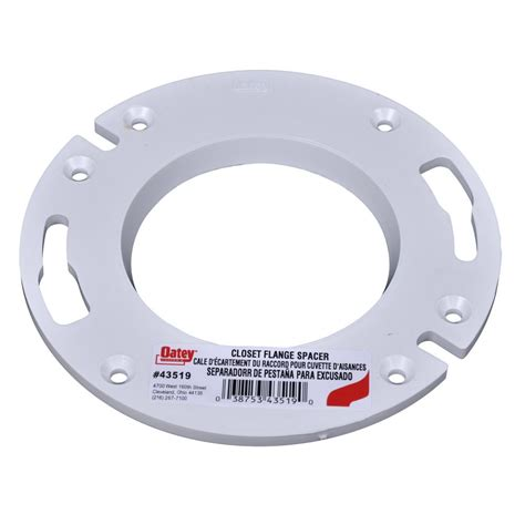 Closet Flange Spacer by Oatey 1 4 In Pvc Flange Spacer 435192 The Home Depot
