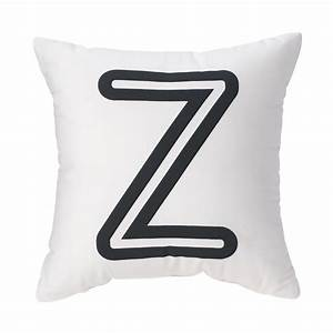 letter z bright letter throw pillow black the land With letter z pillow