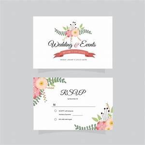 Tarjeta de presentación de bodas y eventos Descargar Vectores gratis