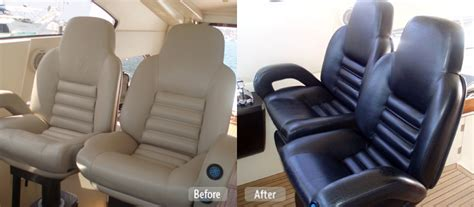 Reupholster Boat Captains Chair by Marine Market Boat Upholstery And Seat Repair Marine