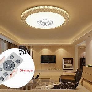 Wohnzimmer Lampe Dimmbar : rund 24w 78w led deckenleuchte kristall wohnzimmer ~ Watch28wear.com Haus und Dekorationen