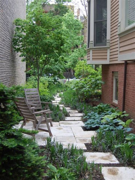 side yard landscape designs narrow side yard houzz