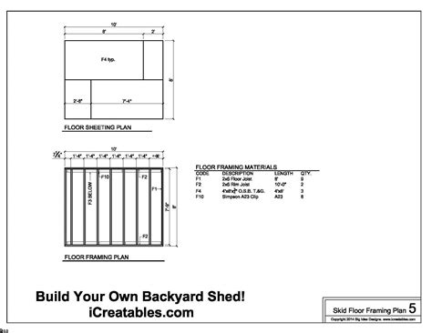 shed plans how to build a shed with icreatables diy