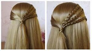 Tresse Facile à Faire Soi Même : coiffure facile faire soi m me avec tresse coiffure pour tous les jours cheveux mi long ~ Melissatoandfro.com Idées de Décoration