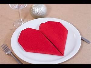 Pliage Serviette Youtube : diy saint valentin pliage de serviette en forme de coeur youtube ~ Medecine-chirurgie-esthetiques.com Avis de Voitures
