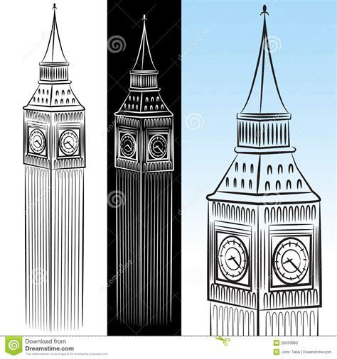 big ben clock tower drawing stock photo image