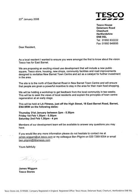 letter format hand delivered
