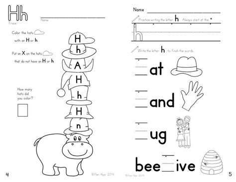 letter h worksheet for preschool worksheets for all
