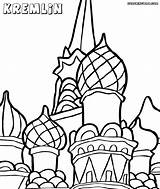 Kremlin Coloring Pages Cathedral Basil St sketch template