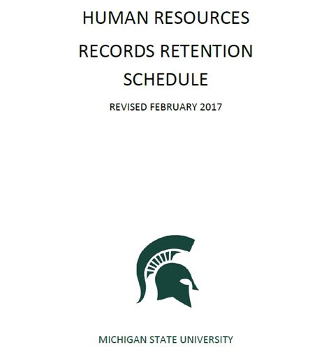 announcing  revised human resources records retention