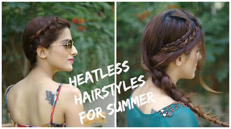 cute easy heatless summer hairstyles ways  style