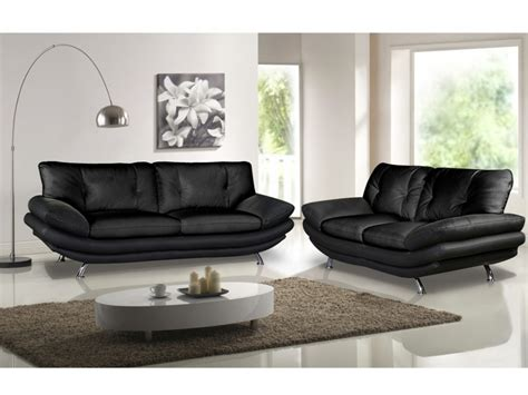 canape simili blanc canapé et fauteuil en simili noir ou blanc forrest