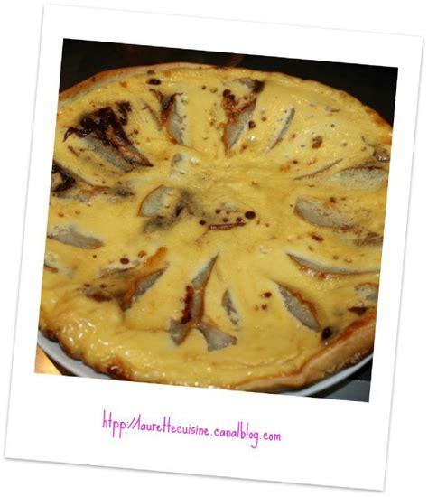 tarte poire chocolat laurette cuisine