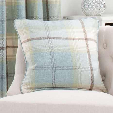 highland check duck egg cushion dream house checked