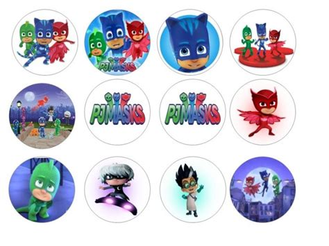 pj masks edible cupcake toppers 12 for sale in dalkey dublin from flour power