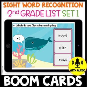 distance learning  grade sight word recognition boom