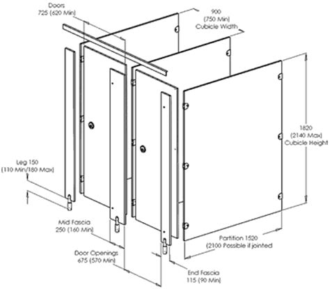 Bathroom Stall Dividers Dimensions by Interesting 30 Bathroom Partitions Thickness Inspiration