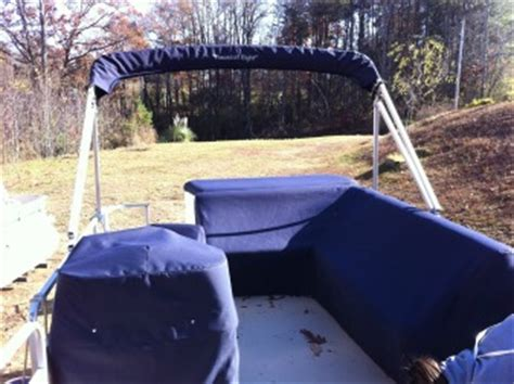 Crest Pontoon Boat Snap On Covers by Best Boat Cover Material Discussion