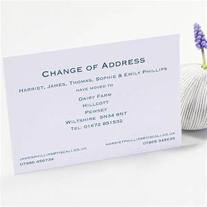 classic change of address cards by this is nessie With custom change of address cards