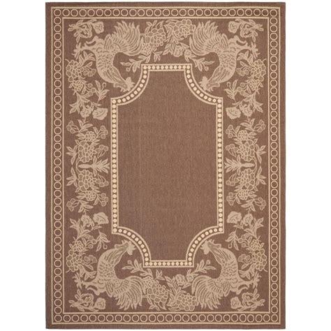 safavieh outdoor rugs safavieh courtyard chocolate 8 ft x 11 ft indoor