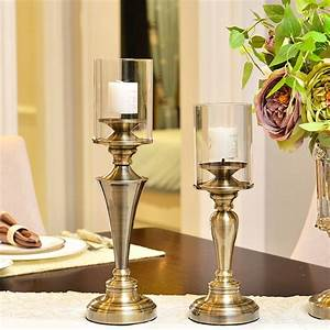 Classical, Candlestick, Table, Romanticwedding, Candle, Holders, Bronze, Silver, Home, Decor, Candle
