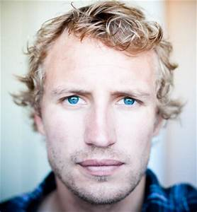 Stubble Two Days Growth Blonde Hair And Blue Eyes Stock
