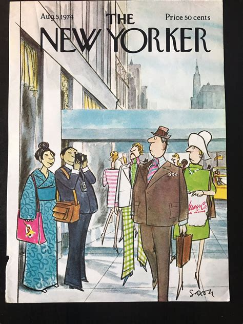 August 5 1974 The NEW YORKER Magazine original cover ...