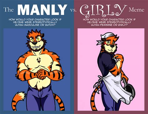 Girly Meme - manly vs girly meme weasyl
