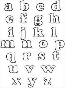 Bubble Letter Alphabet Templates