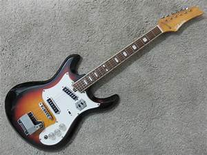 Vintage 1960s Silvertone Teisco Guitar 2 Pick Up Good Shape