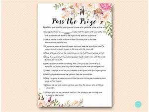 boho theme baby shower games pass the prize pass the parcel With baby shower game booklet template