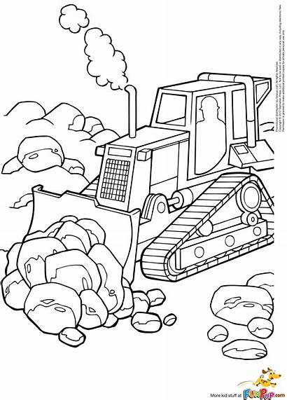 Construction Site Coloring Pages Template