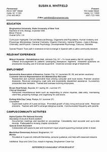 example resume for college student With create a resume for college students