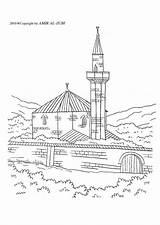 Moschea Moschee Malvorlage Disegno Kleurplaat Moskee Mezquita Colorear Colorare Dibujo Zum Grande Islam Gratis Schulbilder Kleurplaten Ausmalbilder Herunterladen Grosse Abbildung sketch template
