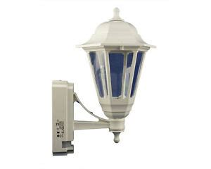 white coach lantern with pir security light 100w exterior