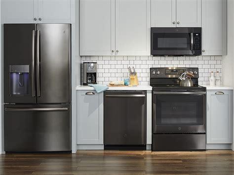 design  unique kitchen  ge black stainless kitchen