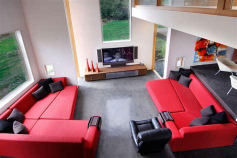 swanwick red  black living room interior design ideas