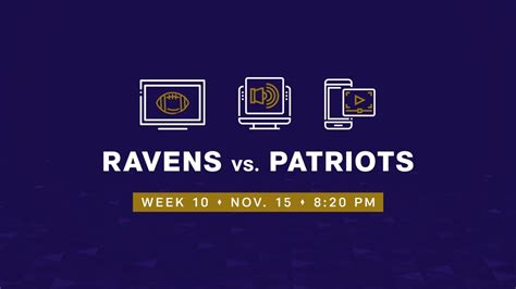 How to Watch, Listen and Live Stream Ravens vs. Patriots