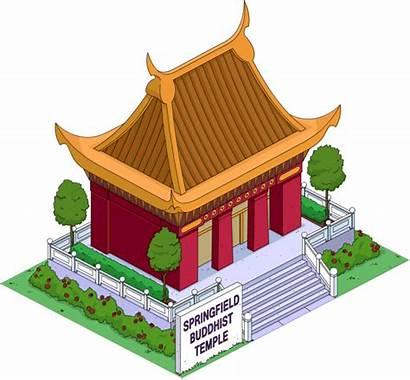 Temple Buddha Buddhist Shrine Transparent Springfield Simpson