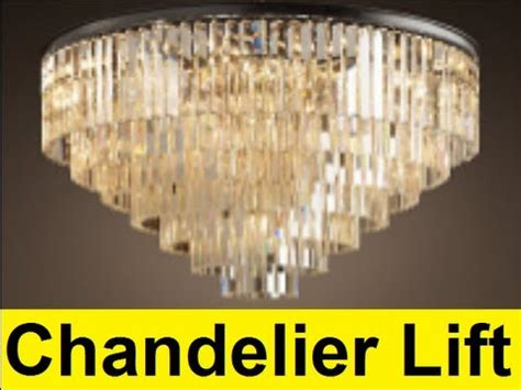 How To Clean Chandeliers On High Ceiling by How To Make A Chandelier Lift