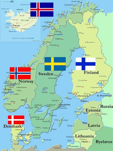 scandinavian countries iceland norway finland