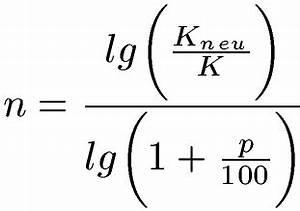 Natürlicher Logarithmus Berechnen : zinseszins berechnen formel beispiele und erkl rung ~ Themetempest.com Abrechnung