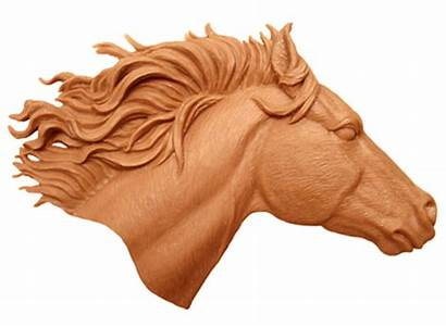 Stl Horse Head Clipart Carving Relief Wood