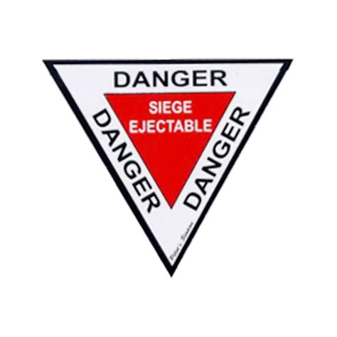 siege ejectable danger siège éjectable 10 cm sticker pas cher sud air